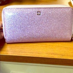 Kate Spade wallet. Glitter light purple